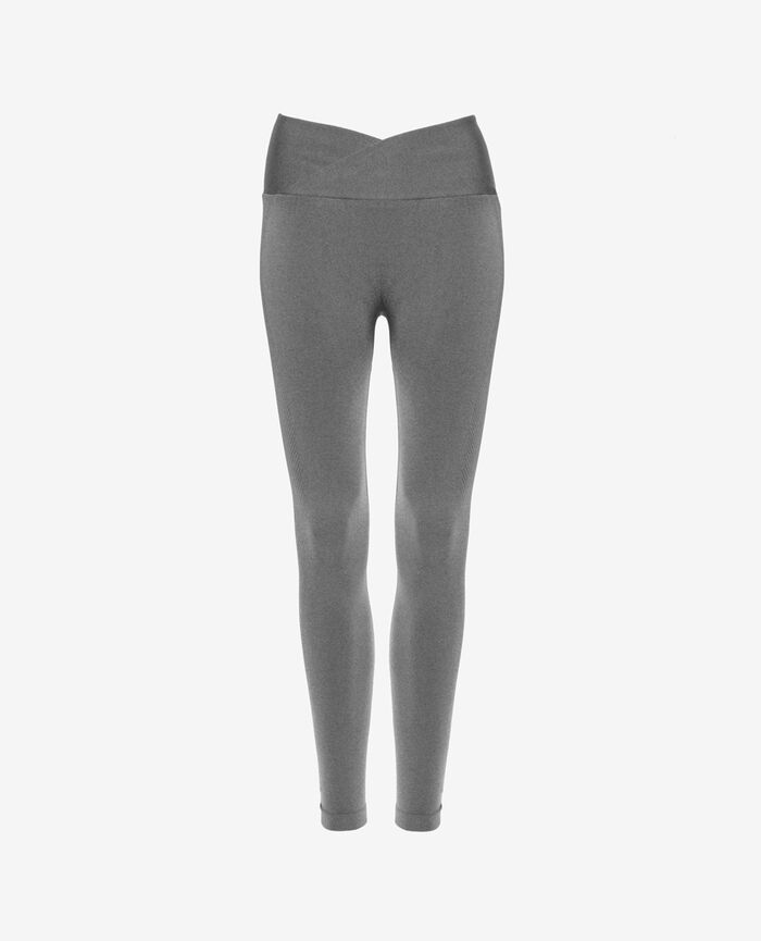 Sport-Leggings Grau meliert YOGA