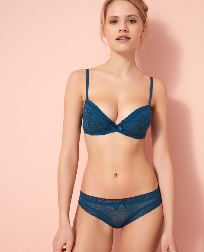 Gepolsterter Push-up-BH Sombrero Blau BELLE