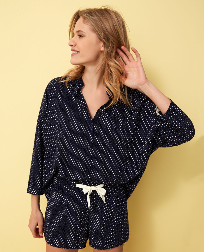 Pyjama-Jacke Willie Blau DARLING