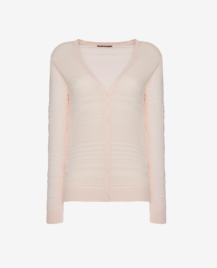 Langärmliger Cardigan Ice Cream Rosa POEME