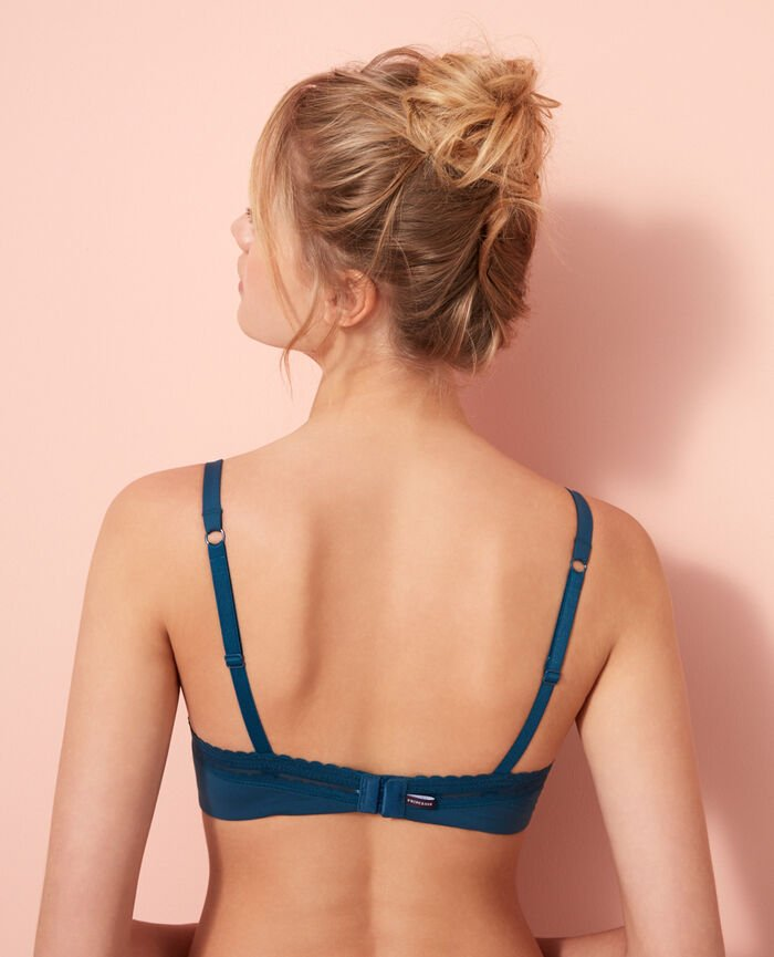 Push-up-BH mit progressiven Schalen Sombrero Blau BEAUTE