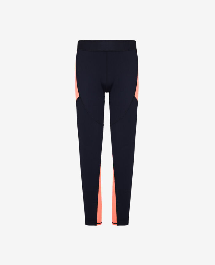 Lange Sportleggings Marineblau RUN