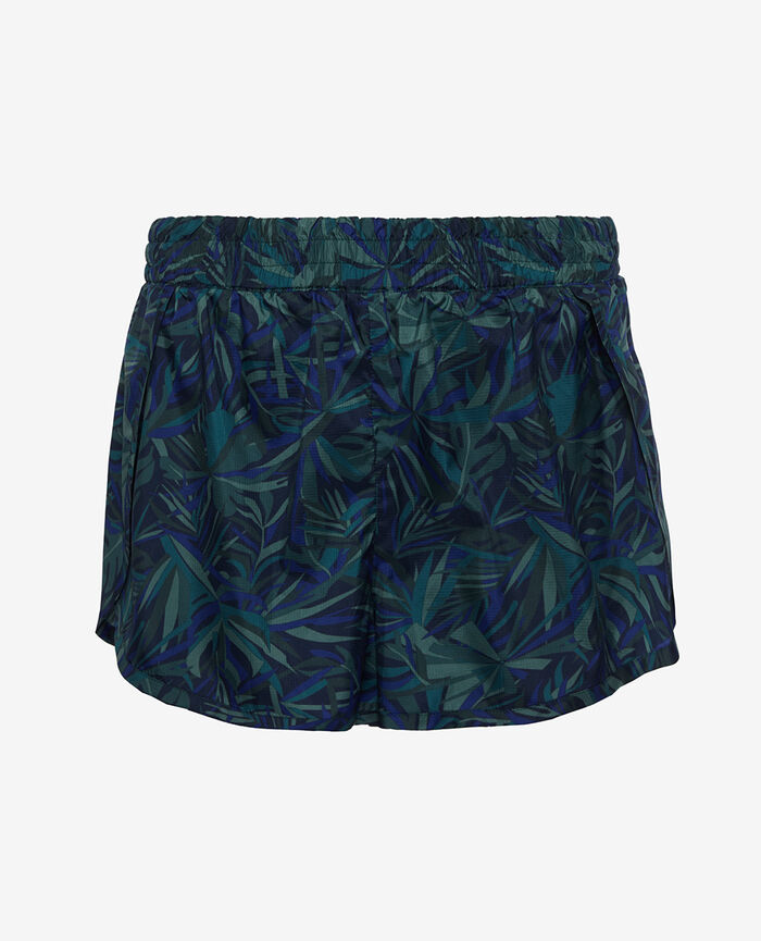 Sport-Shorts Palmen Blau RUN