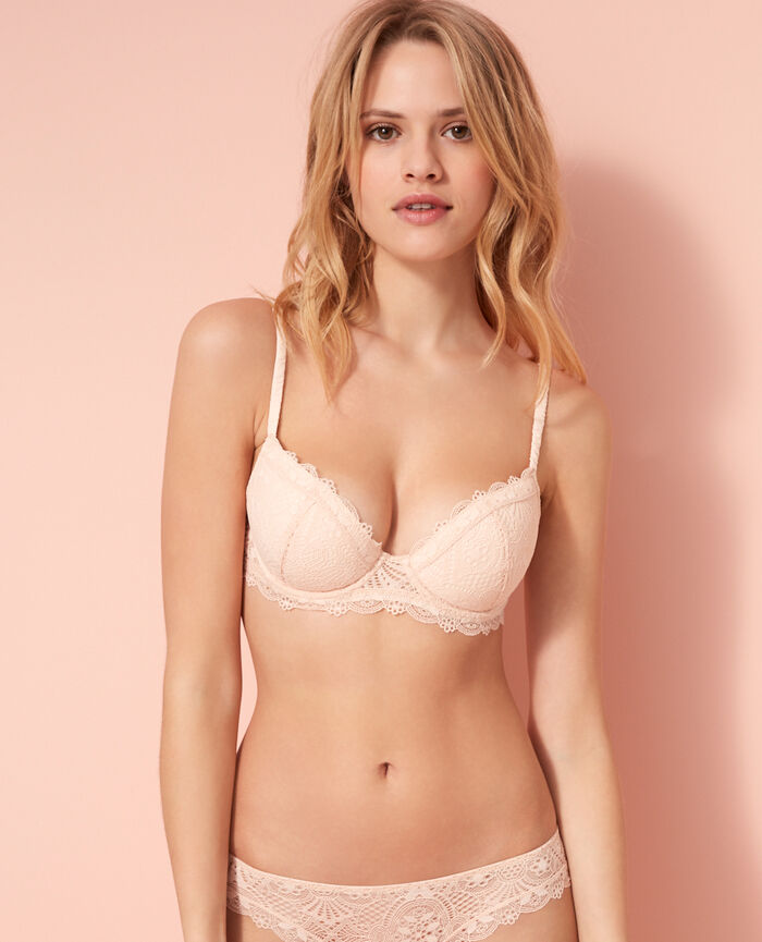 Gepolsterter Push-up-BH Rose Gold LOVE