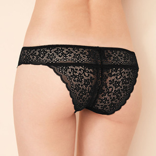 High-cut briefs Black