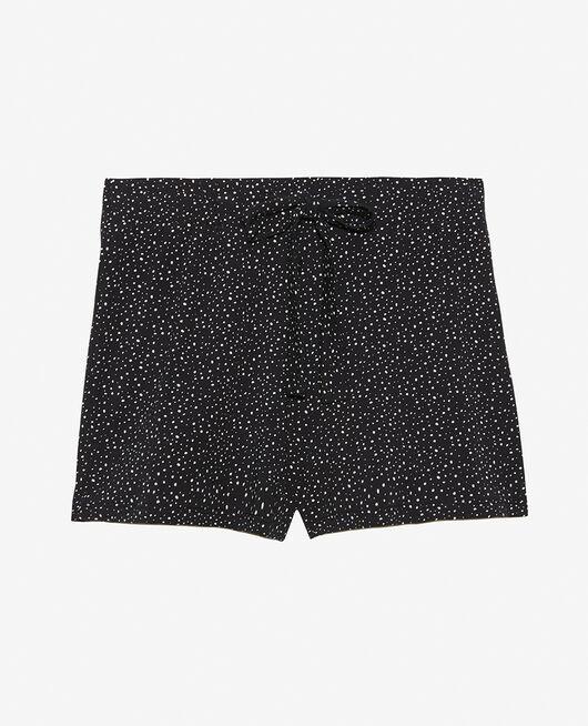 Pyjama-Shorts Flocke Schwarz ECHO