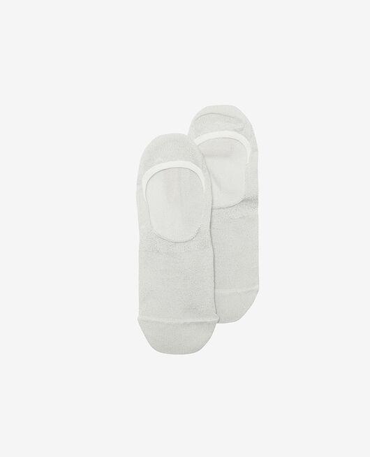 Socken Lurex Silber GLITTER
