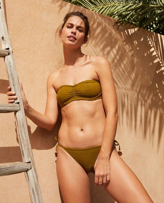 Bandeau-Bikini-Oberteil mit versteckten Bügeln Grün bowie POMPON