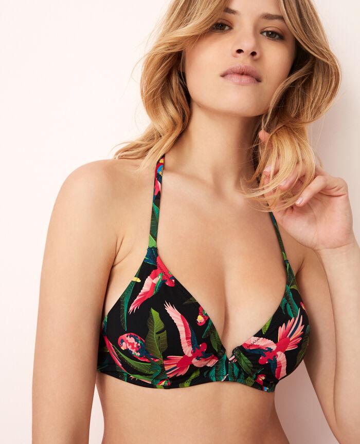 Triangel-Bikini-Oberteil mit Bügeln Bunt ARA