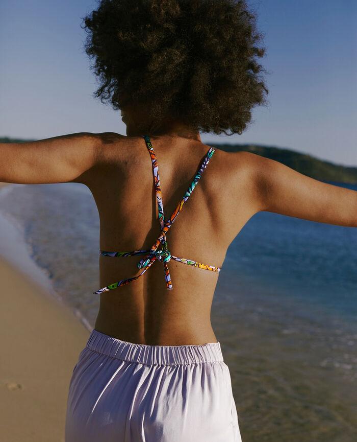 Gepolstertes Triangel-Bikini-Oberteil Tropisch TWIST