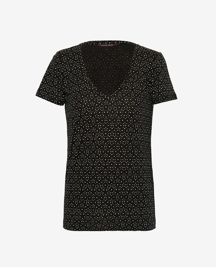 Kurzarm-T-Shirt Chouia Schwarz LATTE