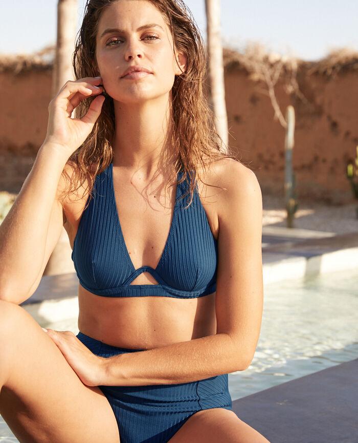 Triangel-Bikini-Oberteil mit Bügeln Sombrero Blau COUTURE