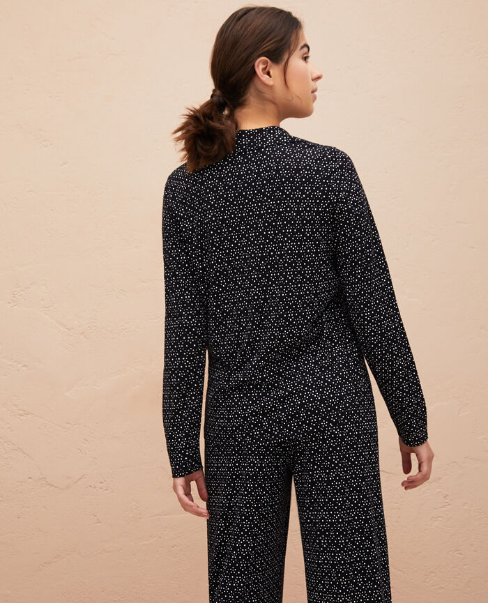Pyjama-Jacke Chouia Schwarz LATTE