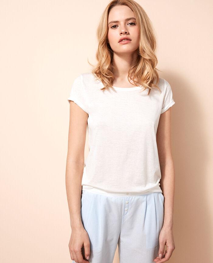 Kurzärmliges T-Shirt Elfenbeinfarben LATTE
