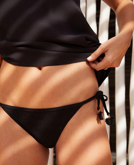 Bikinislip Schwarz POMPON