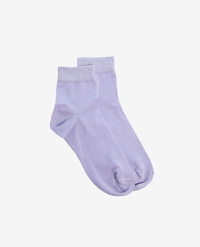 Socken Violett Woodstock GLOW