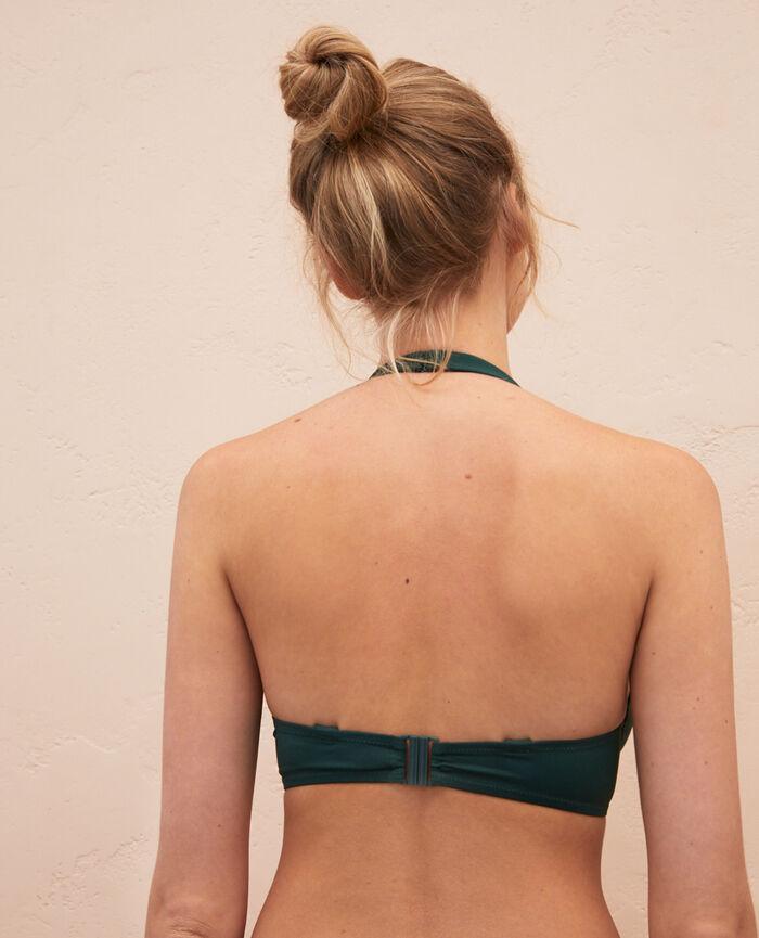 Triangel-Bikini-Oberteil mit Bügeln Keramik Grün IMPALA