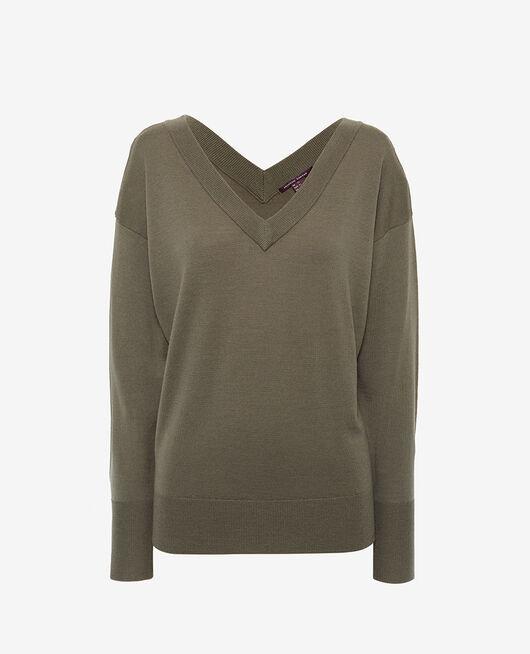 Pullover mit V-Ausschnitt Casbah Grün HENRI