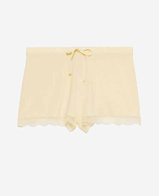 Pyjama-Shorts Vanillegelb DOUCEUR