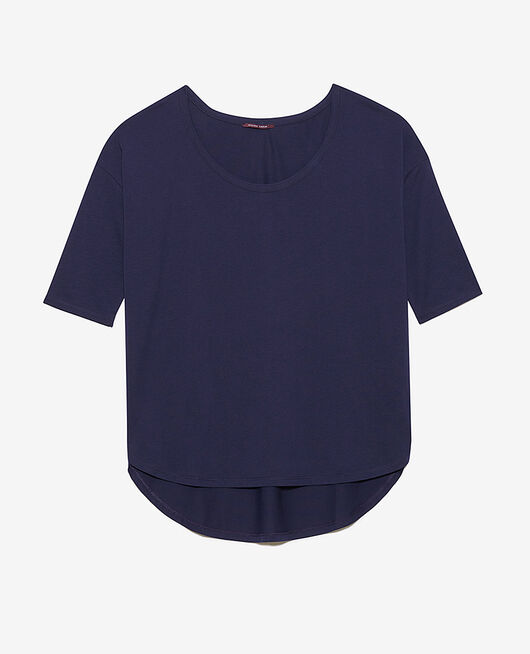 Langärmliges T-Shirt Marineblau TOP COLLECTION