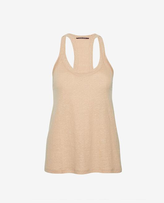 Ärmelloses T-Shirt Puder CASUAL LIN