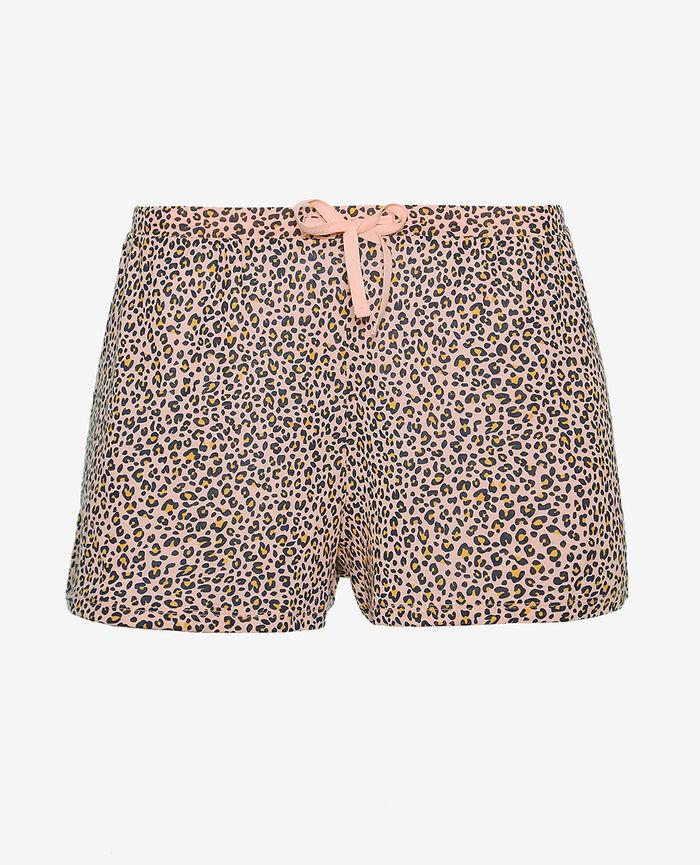Pyjama-Shorts Leo rose LATTE PRINT