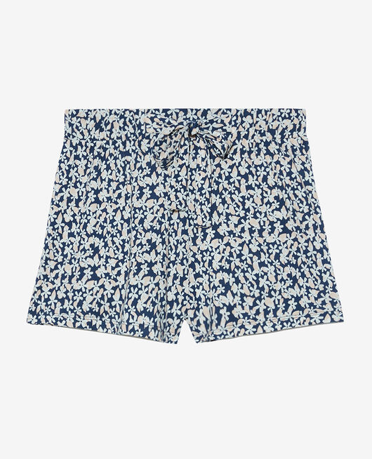 Pyjama-Shorts Gänseblümchen Marineblau TAMTAM SHAKER