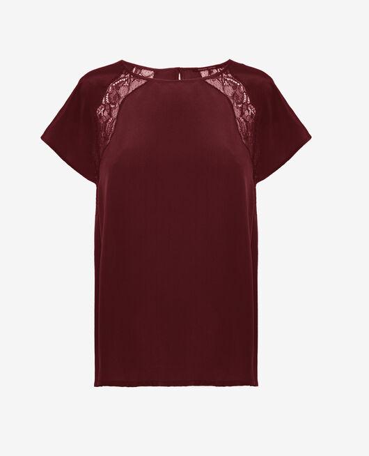 Pyjama Top Cassis rot DIVINE