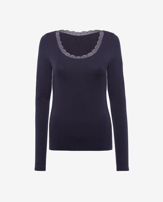 Langärmliges T-Shirt Marineblau HEATTECH© EXTRA WARM
