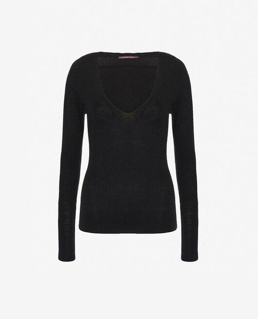 Pullover mit V-Ausschnitt Schwarz COCOON