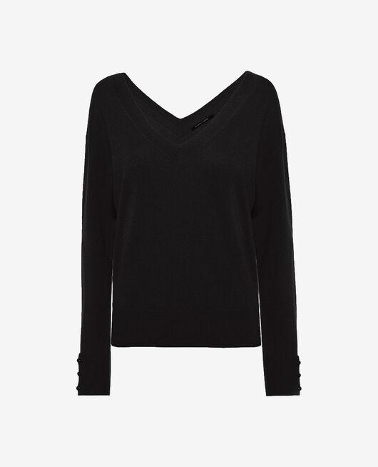 Pullover mit V-Ausschnitt Schwarz ICONE