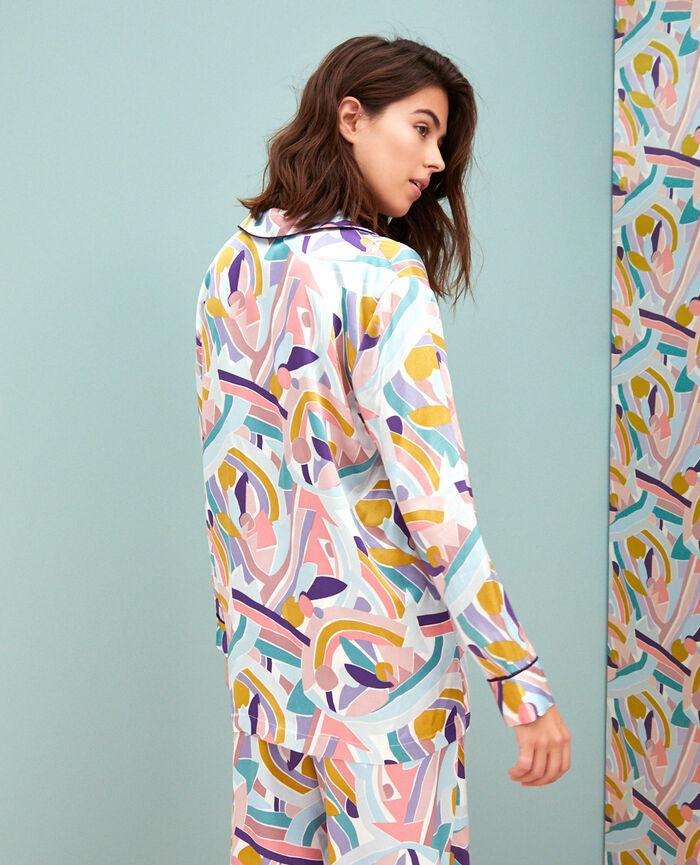 Pyjama-Jacke Farbblock PALAZZO