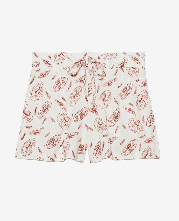Pyjama-Shorts Strohhut Elfenbein TAMTAM SHAKER