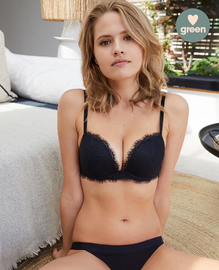 Plunge Push-up-BH Schwarz NUIT