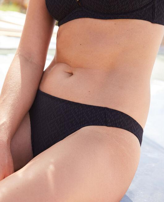 Ausgeschnittener Bikinislip Schwarz ALLURE
