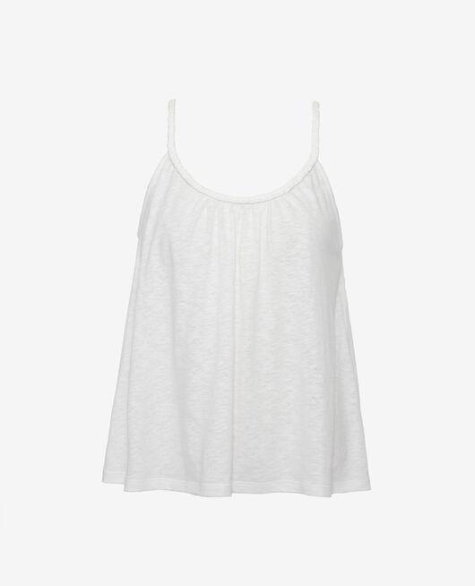 Ärmelloses T-Shirt Elfenbeinfarben ARGAN