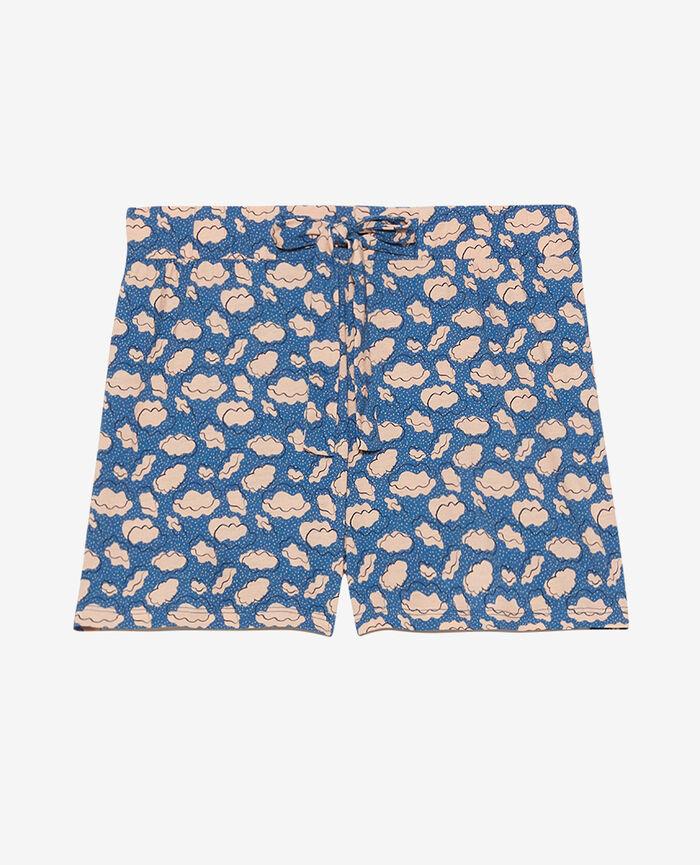Pyjama-Shorts Wolke Fayenceblau TAM TAM SHAKER
