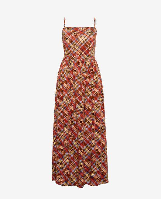 Langes Kleid Tuch braun VACANZE