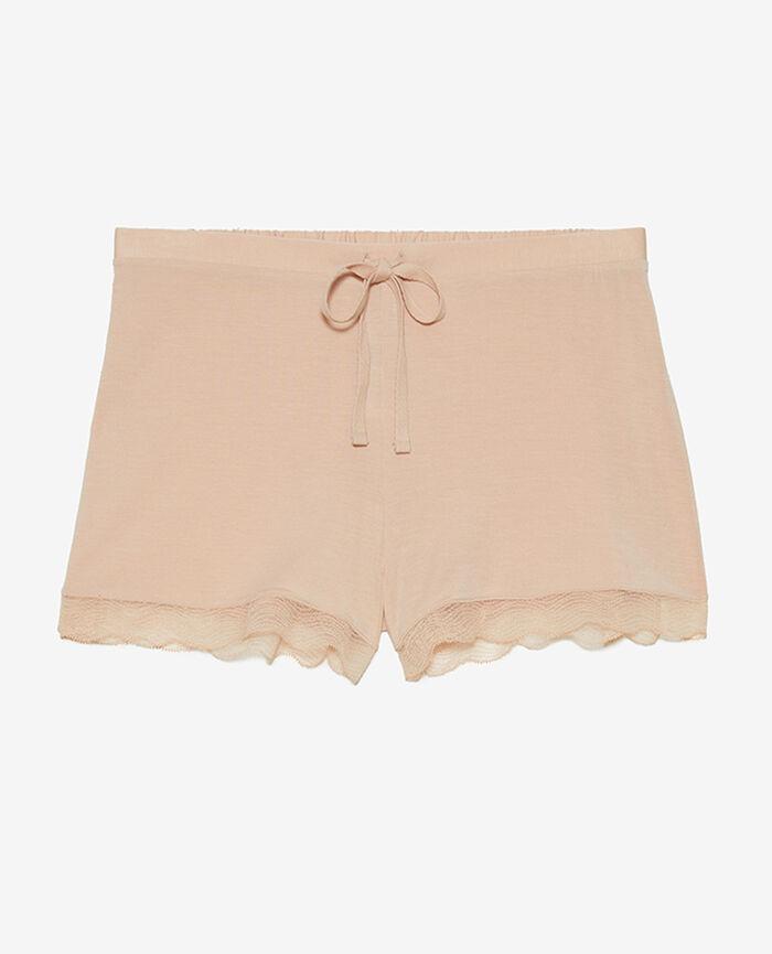 Pyjama-Shorts Beige Puder DOUCEUR