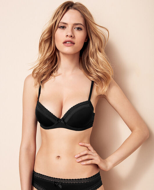 Push-up-BH mit progressiven Schalen Schwarz BEAUTE