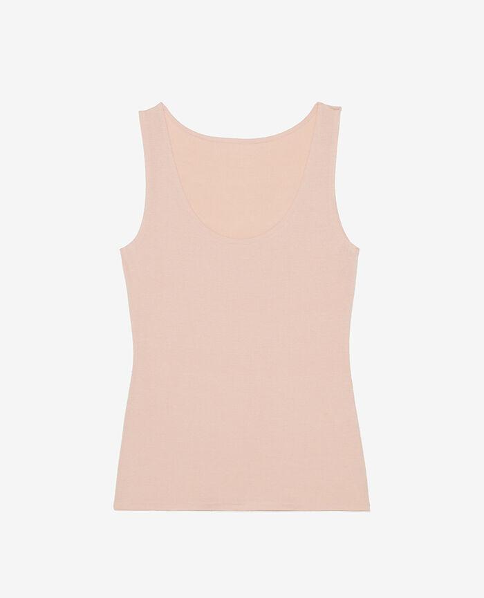 Ärmelloses T-Shirt Beige Puder HEATTECH© INNERWEAR