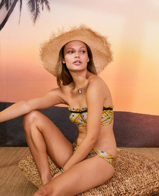 Bandeau-Bikini mit Bügel Tuch gelb VACANZE