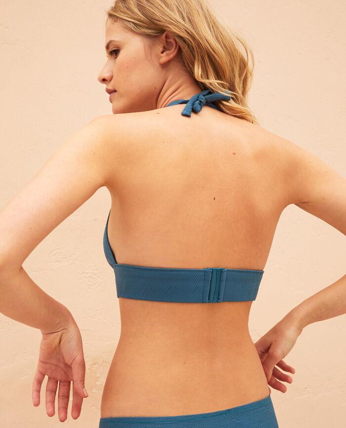 Triangel-Bikini-Oberteil Smaragdgrün NIALA