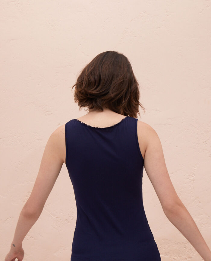 Ärmelloses T-Shirt Marineblau INNERWEAR