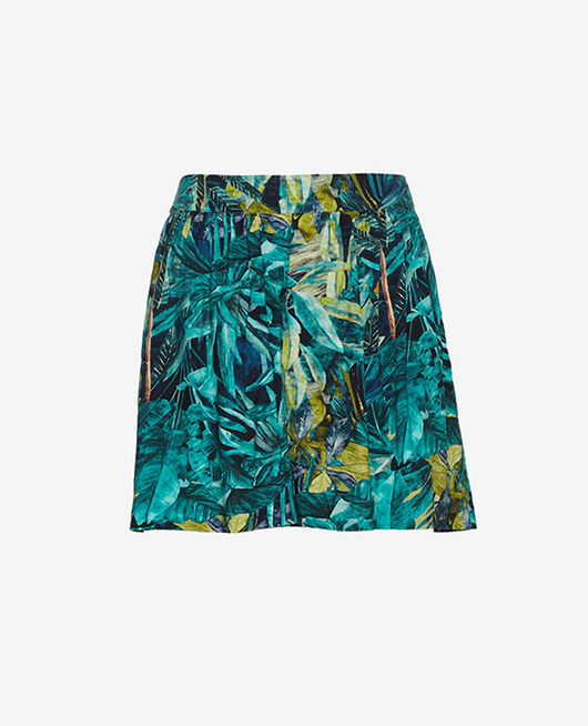 Pyjama-Shorts Palme blau FANCY VISCOSE