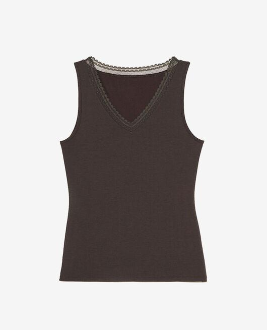 Ärmelloses T-Shirt Nebelgrau HEATTECH© EXTRA WARM