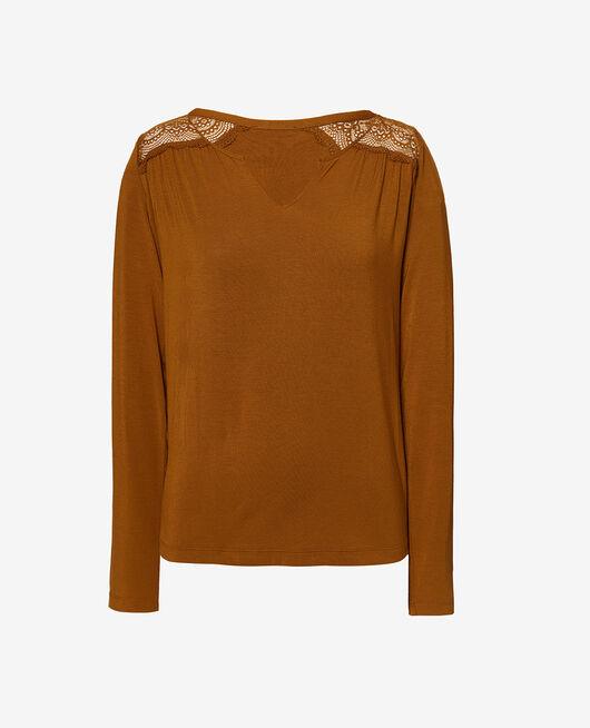 Langärmliges T-Shirt Cocktail braun REVERIE