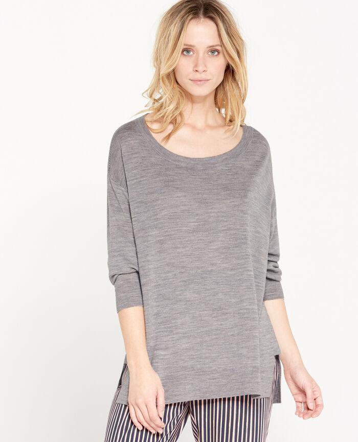Pullover Grau meliert EXTRA
