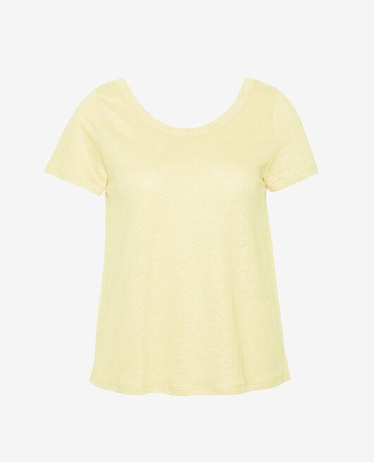 Kurzärmliges T-Shirt Schwanengelb CASUAL LIN
