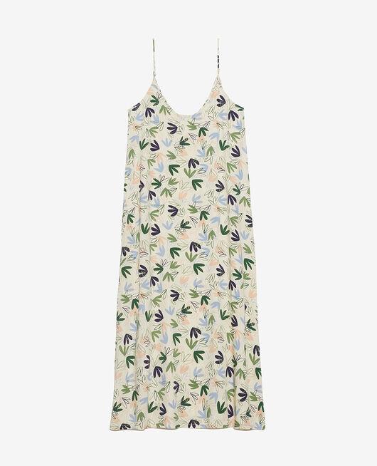 Langes Nachthemd Matisse Weiß Rosé ATTITUDE IMPRIME